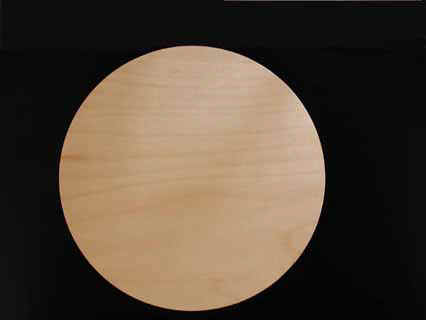 Art Boards™  Round Wooden Artist Panel with hanging slot in the back.