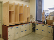 Art Storage System for storing art and art materials in colleges and art schools.