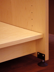 The Art Storage System has adjustable leveling feet to leval stored art.