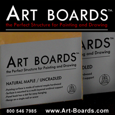 Artist Painting Panels by Art Boards™  Archival Art Supply