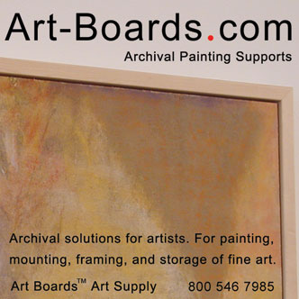 Archival Painting Supports mounted with Claessens Oil Primed Linen.