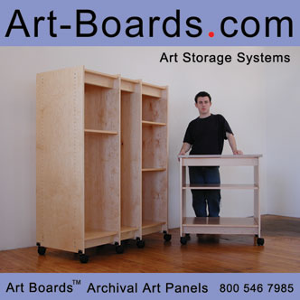 Art Storage made in  Brooklyn,  NYC for storing fine art and art supplies.