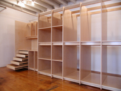 Deep Art Storage Drawers and Shelving made for art gallery for storing art, paintings, and drawings.