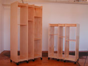 "Two Art Storage Racks for storing art. One is 99"" tall and one is 68"" tall."