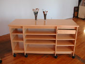 Art Storage desk is for making and storing art and artist supplies.