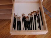 Art Storage Drawers for storing art and artist supplies.