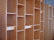 Art Storage Rack for storing paintings, drawings, books, sculpture, and prints. Made by Art Boards� Archival Art Supply.