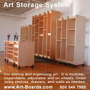 Art Storage System for archival Storage of Paintings