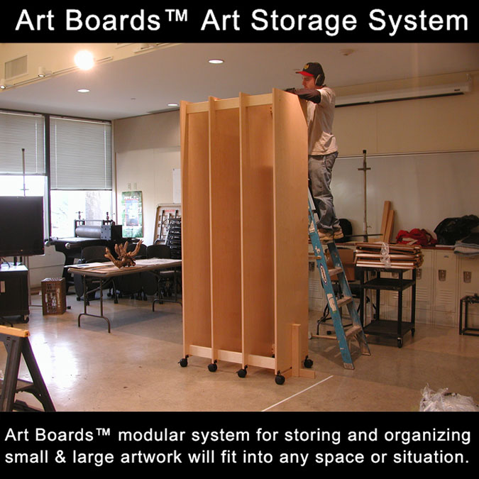 Sculpture and Painting Studio Art Storage.