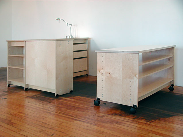 Furniture for the the art school classroom.