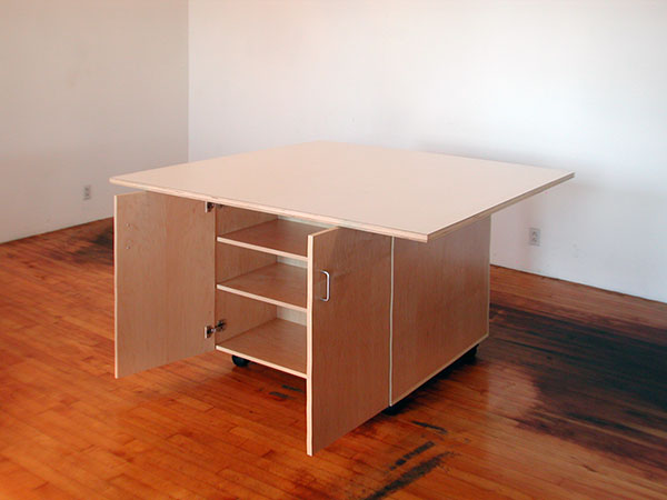 Merveilleux ... Tables For The Art Studio Roll On Wheels With Cabinets Below For  Storing Art.