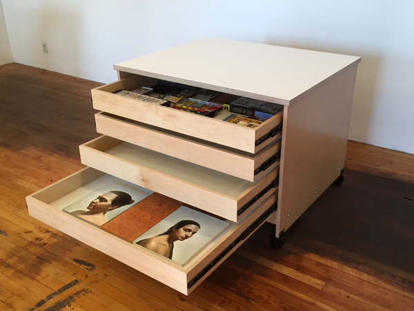 Art Storage Drawers for storing art and art supplies made by Art Boards™ in Brooklyn NY.