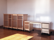 Art Storage Shelving and Mobile Art Studio Desk by Art Boards™.