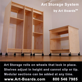Art Storage System for the safe storage of art.