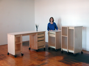 Art Storage Art Studio Furniture is design by Art Boards™ for storing art, and  making art.