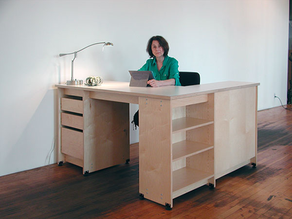 Natural Maple Artist Desk Made For The Art Studio And For School Room.