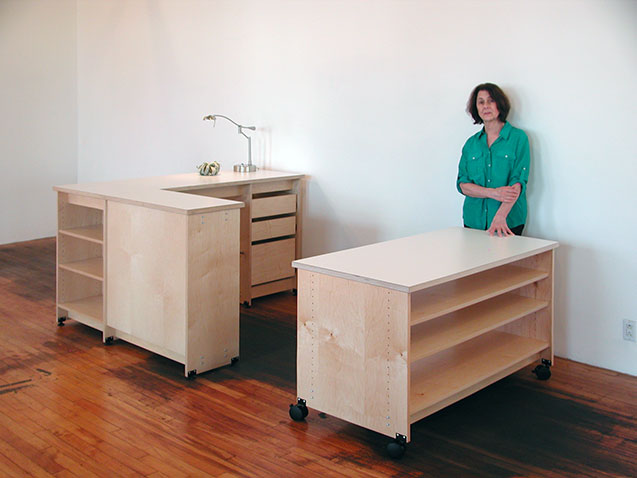 Modular office furniture made in Brooklyn by Art Boards.