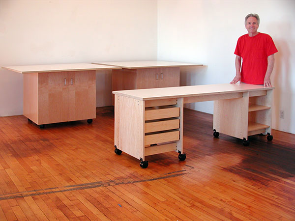 Artist Desks With Drawers And Shelving Are Pare Of The Art Storag E