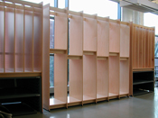 Art Studio Painting Storage System for storing fine art paintings in an Art School.