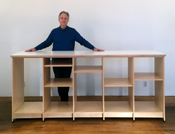 "Art Studio Storage System is 96"" long can be made in any size."