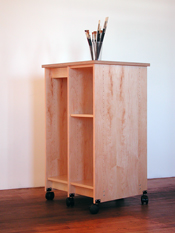 Art Studio Storage System for storing art and art materials made by Art Boards™ Archival Art Storage Systems.