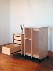 Art Storage Drawers and Art Storage Rack for storing art and art materials.