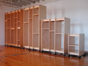 Art Storage Cabinets for storing art collections made in any size in Brooklyn NY, in the USA.