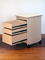 "Art Storage System has 3 drawers and is 36"" in height."