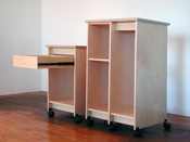 Art Studio Storage Cabinets drawing boards and pads for painting and drawing.t supplies.