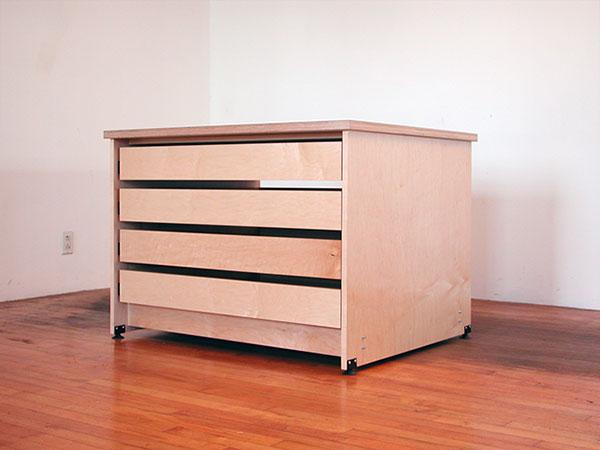 Art Storage Drawer System by Art Boards™ Art Supply has four large art storage drawers & Art Studio Art Storage Drawers made by Art Boards™ Archival Art Supply.