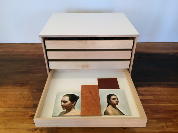 Art Storage Drawers for storing art on wheels is made by Art Boards™ Art Supply.