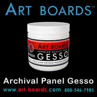 The best Gesso is made by Art Boards™ for wood art panels.