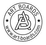 Round Art Panels made for artist paintings are made in Brooklyn by Art Boards™ Archival Artist Supply.