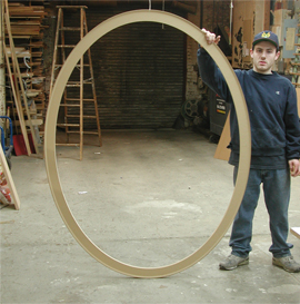 "Oval Canvas Stretchers 72"" tall  custom made by Oval shaped canvas stretchers for making elliptical paintings made for artists by Art Boards™ Archival Art Supply."