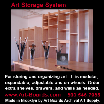 Art Storage System is made in Brooklyn for safe storage of fine art.