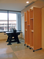 Art Storage System for storing prints in art schools and printmaking studios.