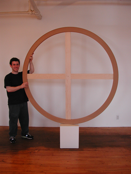 Round Artist Stretcher for Tondo Painting