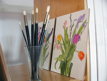 Art Storage System for storing watercolor paintings and art supplies.