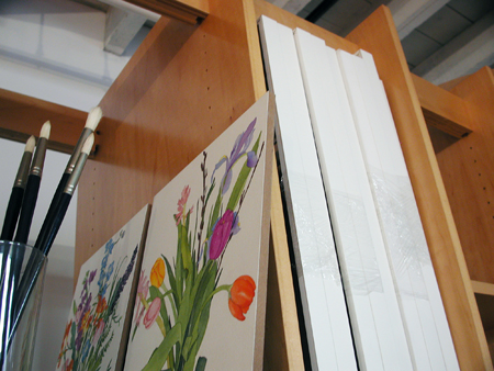 Art Storage System for storing art including watercolor paintings.