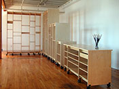 Art Storage System for storing art collections can be made to be any height.