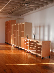 The Art Storage System can be assembled in any combination.