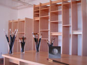 Art Storage System; how to store paintings, drawings, art books, digital prints. and art supplies.