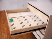 Art Storage Drawer System is extra wide, deep, and long, for storing art papers and flat art.