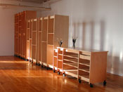 Art Storage Furniture for storing and making art can be made to any height and width.