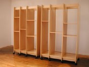 Art Storage System for storing paintings can be ordered in any size.