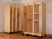 Art Storage System can be rolled to fit in any art studio or art storage facility.