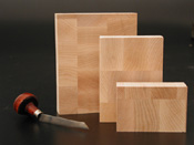 "End Grain Maple Wood Engraving Blocks .918""  by Round Canvas Stretchers for stretching canvas for making round paintings. Custom size Round Artist Stretchers can be made in any size by Art Boards™ Archival Printmaking Supply."