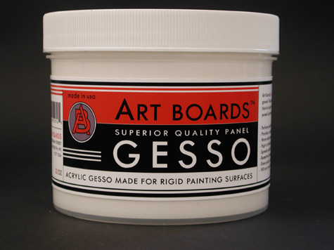 Artist Gesso for painting on panels performs like a classic traditional gesso. Made by Art Boards™ Archival Art Supply.