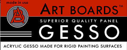 Acrylic Gesso made for Rigid Painting Surfaces made is in Brooklyn byArt Boards™ Archival Art Supply.