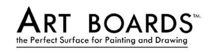 Art Boards Canvas mounted art panels have an acrylic gesso painting surface.